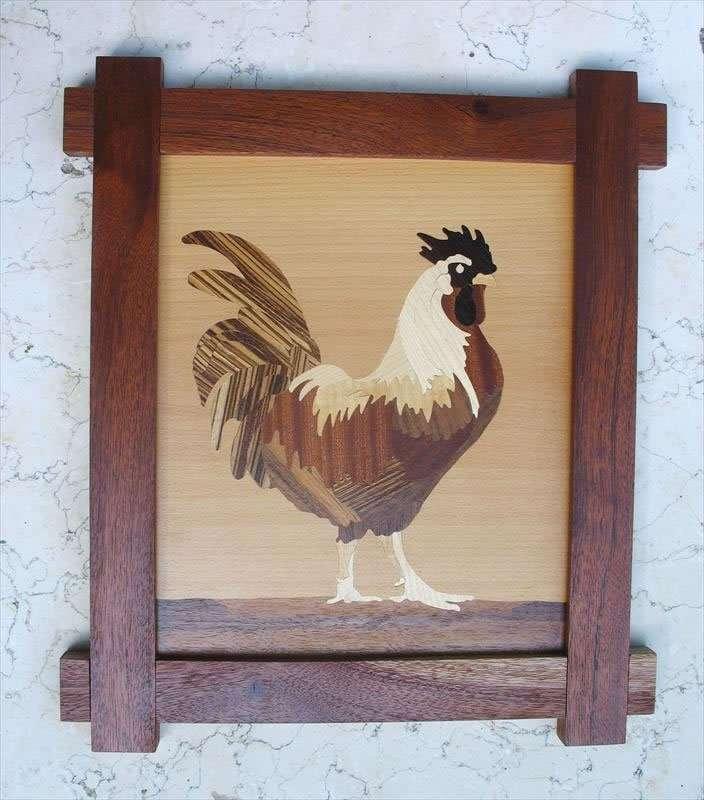 תרנגול גאה, שיבוץ פורניר