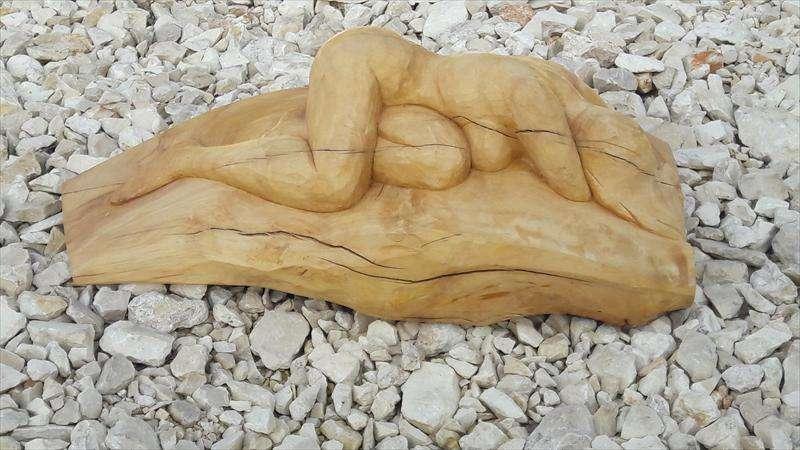 אישה שרועה, עץ ברוש מקומי