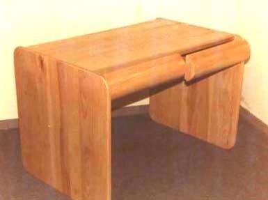 שולחן כתיבה עם מגירות, מעץ אשה