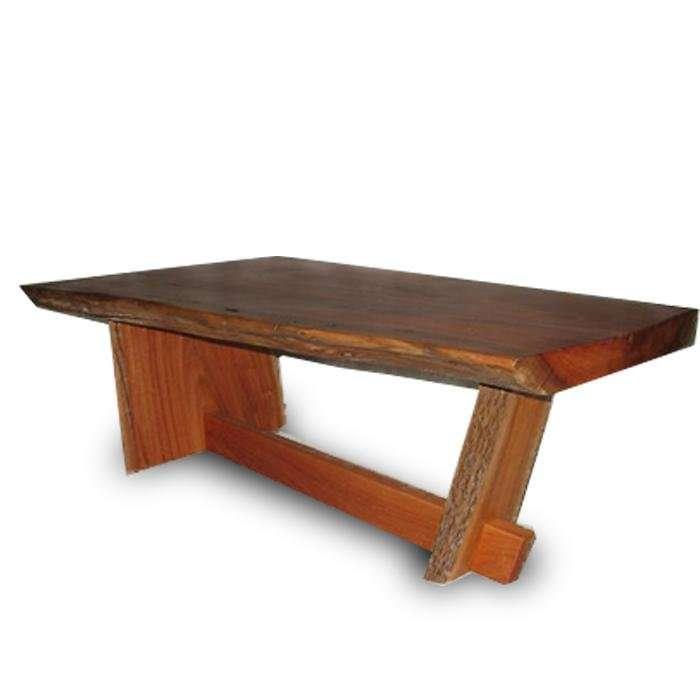 שולחן סלון מלוחות אקליפטוס לא גזום