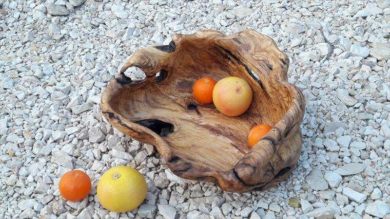 קערה מחצי שורש עץ זית, סילביה