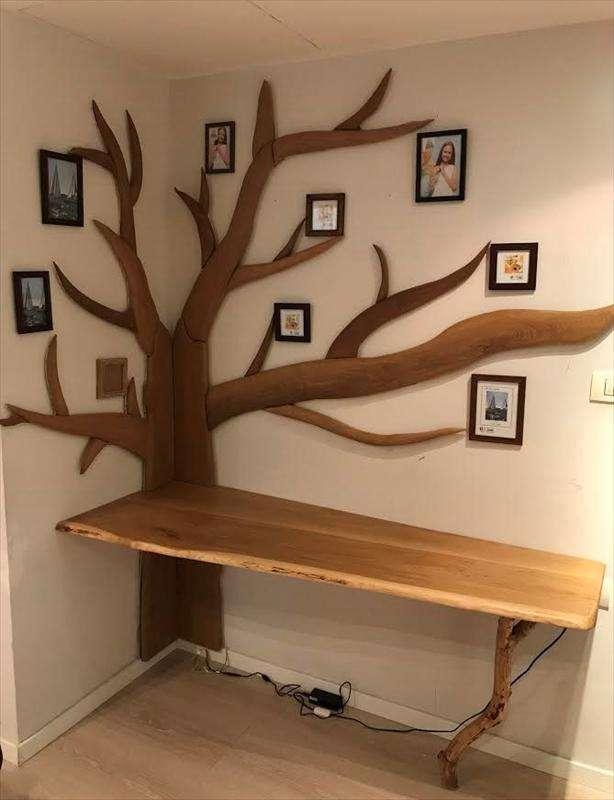 שולחן ועץ, אגוז אמריקאי ואלון לבן, אנה