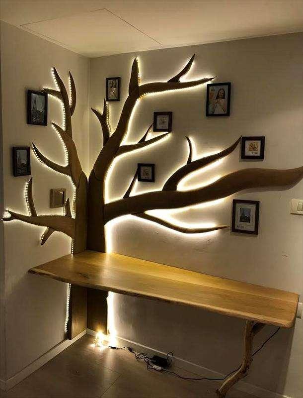 ואותו שולחן עם תאורה
