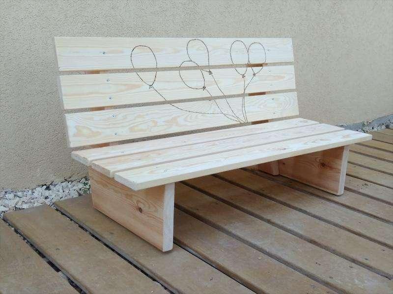 ספסל זולה לגן ילדים, מעץ אורן, דוד