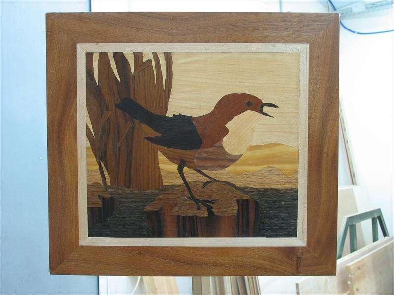 ציפור, עבודת שיבןץ פורנירים, חבצלת