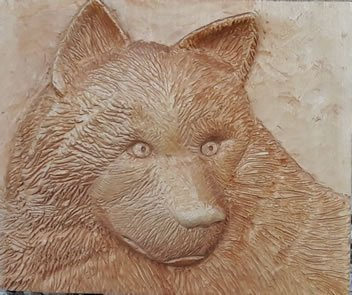 גילוף: ראש זאב